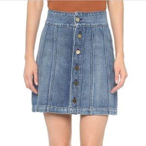 Frame denim button up skirt